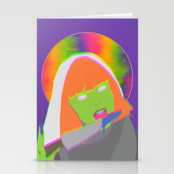 neon-queen-of-halloween-cards